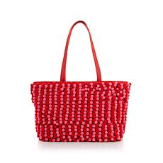 Clever Carriage English Eccentric Pompom Shopper