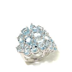 Colleen Lopez 10.8ct Aquamarine Cluster Ring