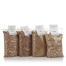 Curtis Stone Indoor Smoker Wood Chips Variety 4-Pack