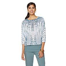 DG2 by Diane Gilman Sublimation Print Perfect Tuck Top