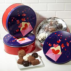 Giannios 3 - 1 lb. Tins of Assorted Chocolates