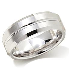 Grooved Tungsten 8mm Wedding Band