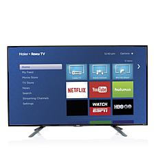 "Haier 55"" Smart LED HDTV w/Built-In Roku and HDMI Cable"