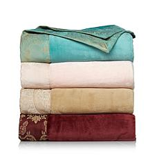 Highgate Manor Madeleine Plush Jacquard Trim Throw