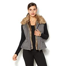 IMAN Global Chic Runway Glam Multi-Look Vest w/Faux Fur