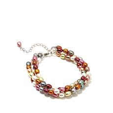 Imperial Pearls 3-Strand Multicolor Pearl Bracelet