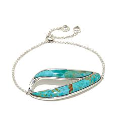 Jay King Contemporary Turquoise Inlay Bracelet