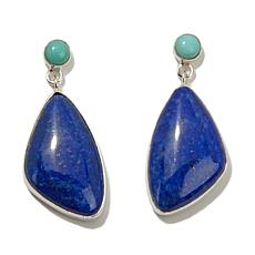 Jay King Freeform Lapis and Turquoise Drop Earrings