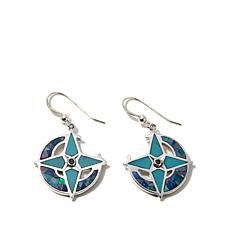 Jay King Micro Opal & Turquoise Inlay Drop Earrings