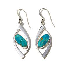 Jay King Santa Rita Turquoise Sterling Silver Earrings