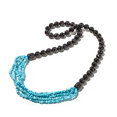 Jay King Turquoise and Gem Necklace and Bracelet Set