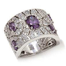 Jean Dousset 2.51ctw Absolute™ Clear and Purple Ring