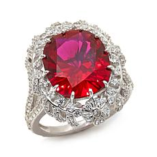 Jean Dousset 9.48ctw Absolute™ and Created Ruby Ring