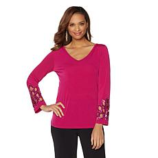 Joan Boyce Reversible Sequin Top