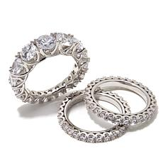 "Joan Boyce ""Small but Perfect"" 3-piece Band Ring Set"