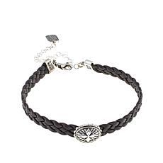 "King Baby Braided Leather Cross 12"" Choker"