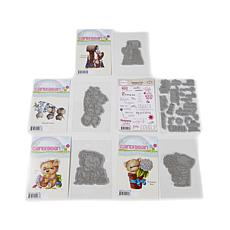 Little Darlings CandiBean Furry Friends Rubber Stamps