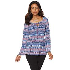 Liz Lange Bell-Sleeve Peasant Top