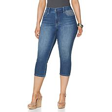 Melissa McCarthy Seven7 Patch Cropped Pencil Jean