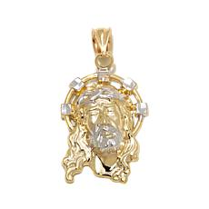 "Michael Anthony Jewelry® 10K 2-Tone ""Jesus"" Pendant"