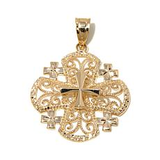 Michael Anthony Jewelry® 10K Jerusalem Cross Pendant