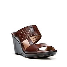 "Naturalizer ""Optic"" Laser-Cut Slide Wedge Sandal"