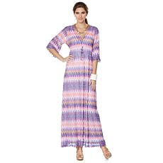 "Nikki by NIkki Poulos ""Erin"" Crochet Maxi Dress"