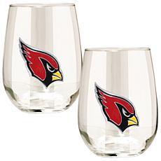 Officially Licensed NFL 2pc Wine Glass Set-Cardinals