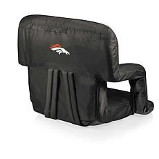 Picnic Time Ventura Folding Chair-Denver Broncos