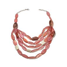 "Rara Avis by Iris Apfel Pink Bead 25"" Drape Necklace"