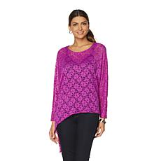 Rhonda Shear Lace Poncho Top