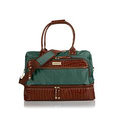 Samantha Brown Croco-Embossed Trim Drop Bottom Bag