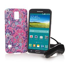 "Samsung Galaxy S5 5"" TracFone w/1200 Min, Texts & Data"