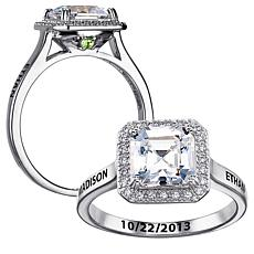 Secret Expressions CZ Solitaire/Birthstone Crystal Ring