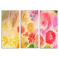 "Sheila Golden ""Wood Flower"" 3-Panel, Giclée-Print Set"