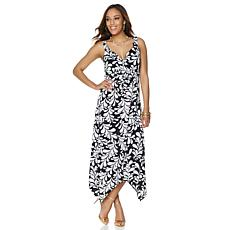 Slinky® Brand Printed Dress with Ruched Empire Waist