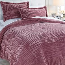Soft & Cozy Patchwork Embossed Comforter Set