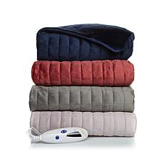 Soft & Cozy Quilted Mink Heated Throw