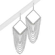 Stately Steel Fringe Earrings