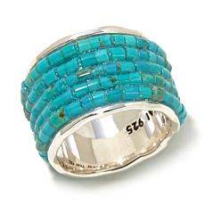 Studio Barse Turquoise Sterling Silver Band Ring