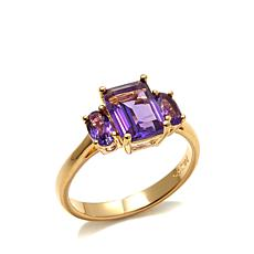 Technibond® Amethyst 3-Stone Ring