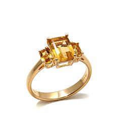 Technibond® Citrine 3-Stone Ring
