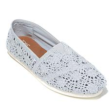 TOMS Metallic Crochet Slip On - Womens