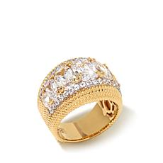 Victoria Wieck 5.54ct Absolute™ Vermeil Cigar Band Ring