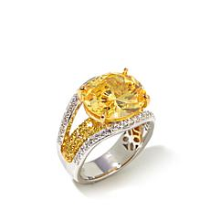 Victoria Wieck Absolute™ 9.16ct Canary and Clear Ring