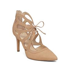 Vince Camuto Ballana Lace-Up Suede Pointed-Toe Pump