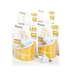 Whirlpool Dimmable 40-Watt Equivalent Candle LED Bulbs