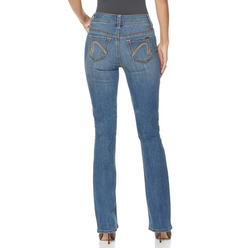 d49fc43339186 Melissa McCarthy Seven7 Stretch Slim Boot Cut Jean with Double Stitch  Detail 8071636