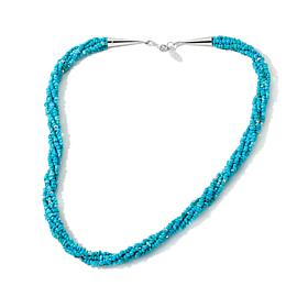 Chaco Canyon 5-Strand Kingman Turquoise/Silver Necklace