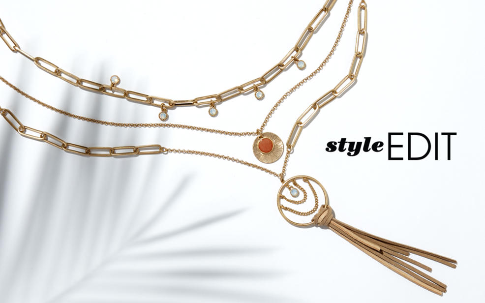 Make your look your own by layering necklaces or opting for pre-layered sets